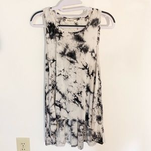 GINGER G black and white tie-dye tank top small